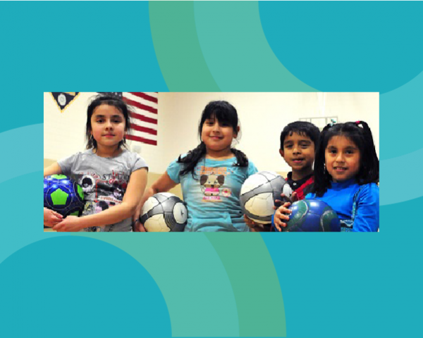 Young children at Waite House Community Center